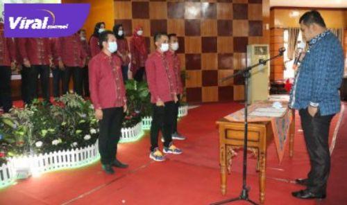 Susana pelantikan Pengurus DPC HIPMI Banyuasin Periode 2020 – 2023. FOTO : VIRALSUMSEL.COM