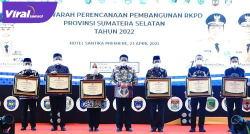 Murenbang RKPD Provinsi Sumsel Tahun 2022, di Hotel Santika Premier, Jumat (23/4/2021). FOTO : VIRALSUMSEL.COM